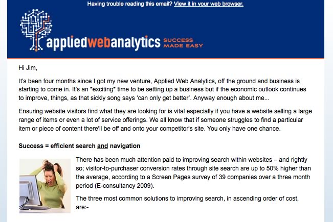 Applied Web Analytics
