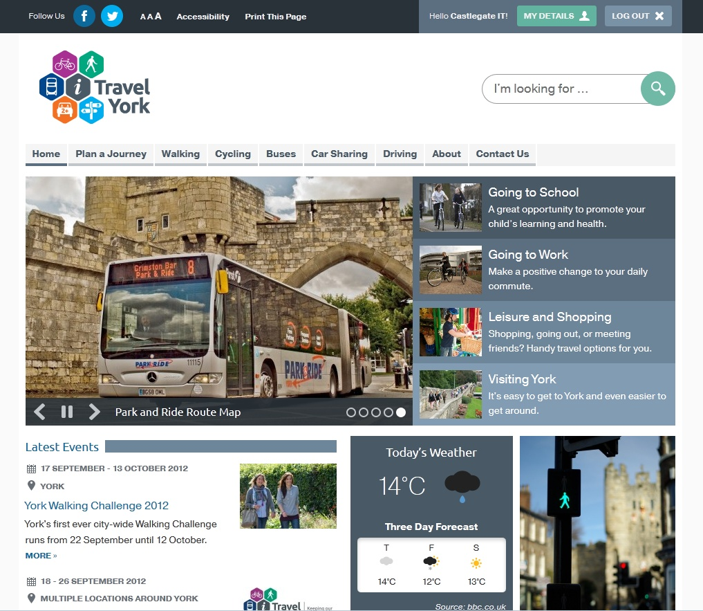 The i-Travel York website
