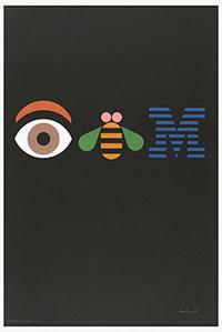 Eye Bee M (IBM). Poster 1981 Paul Rand