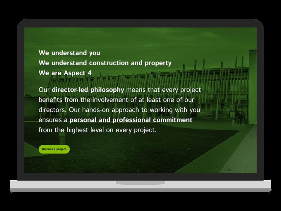 Aspect 4 desktop site visualisation