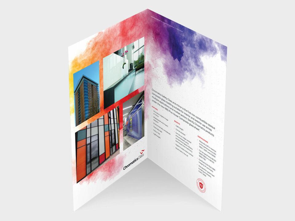 Chromatics Glass brochure visual