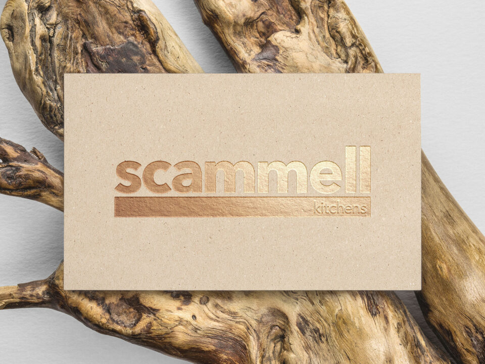 Scammell Kitchens logo update visualisation
