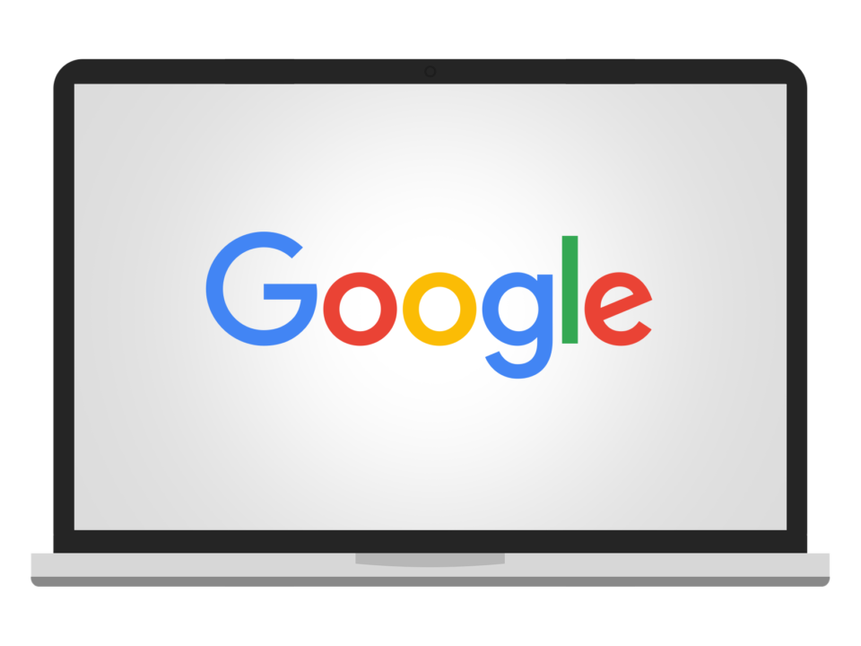 google logo on screen