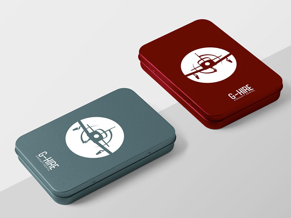 An example of high end logo design visualised on a tin