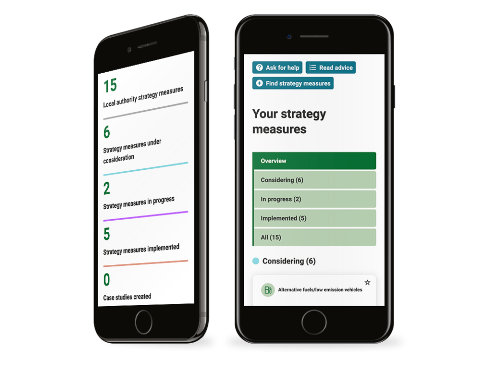 High end local government design visualised on a mobile