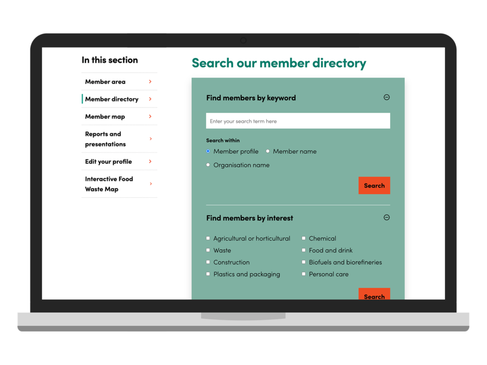 An example of high-end website design with a membership system visualised on a laptop